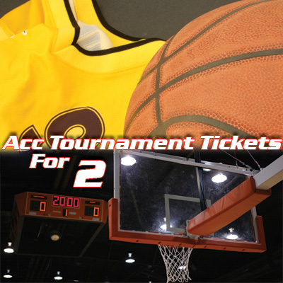 ACC<sup>&reg;</sup> Tournament Tickets - Witness college basketball at its finest!  2 tickets to the ACC Men's Basketball Tournament.  Tickets subject to availability based on date of request. Airfare not included.