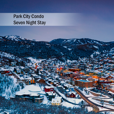 Park City Condo 7 Night Stay - Explore Deer Valley and Park City, Utah during your 7 night stay at this amazing 3 bedroom, 3 bath condo.  Condo features include master bedroom with king bed, guest bedroom with queen bed and second guest bedroom with 2 sets of twin bunk beds.  Also includes a gorgeous stone fireplace, Sony<sup>&reg;</sup>  52